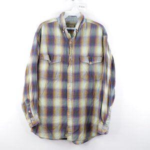 Vintage Double Pocket Flannel Plaid Shirt